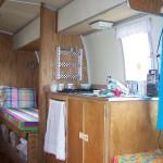 Airstream kitchen view