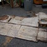 Remnants of the rear floor